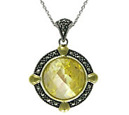 Suspicion Sterling Simulated Canary Diamond Pendant w/Chain - J304355