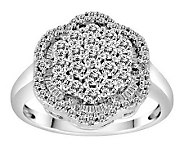 Round & Baquette Diamond Ring, 14K, 1.00 cttw,by Affinity - J305555