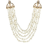 Joan Rivers Estate Style Simulated Pearl 23 Necklace w/ 3 Extender - J321555
