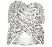 Micro-Pave Multi Row Design Ring, 3/4 cttw, by Affinity - J322155