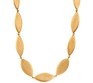 Veronese 18K Clad Satin Finish 30 Marquise Necklace - J322755
