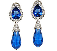 The Elizabeth Taylor Simulated Sapphire Drop Earrings - J323355