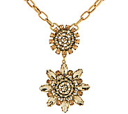 LOGO Links by Lori Goldstein 20 Chain Link Flower Pendant Necklace - J324155