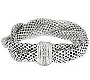 As Is VicenzaSilver Sterling 8 Braided Mesh Bracelet - J324855