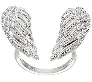 Open Angel Wing Diamond Ring, Sterling, 1/5 cttw, by Affinity - J325555