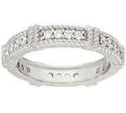 Judith Ripka Sterling 4/10 cttw Diamonique Band Ring - J326555