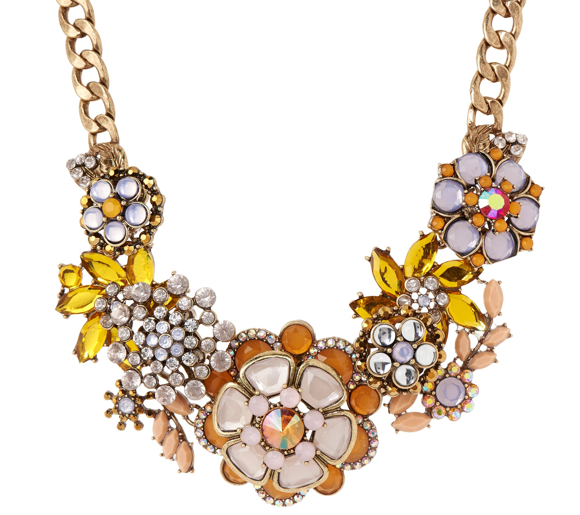 Joan rivers jeweled bouquet 18 statement necklace with 3 for Joan rivers jewelry necklaces