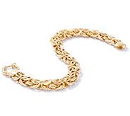 14K Gold 7-1/4 Solid Polished Byzantine Bracelet, 31.5g - J331555
