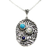 Or Paz Sterling Gemstone Pendant with Chain - J336355