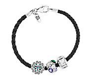 Prerogatives Sterling Flowers Bead Bracelet Set - J337655