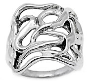 Hagit Sterling Silver Ribbon Ring - J339255