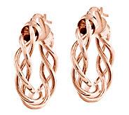 1 Polished Braided Hoop Earrings, 14K - J339655