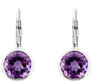 6.00cttw Gemstone Lever Back Earrings, SterlingSilver - J340355