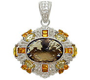 Judith Ripka Sterling Multi-Gemstone Pin/Enhancer - J340855