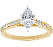 Diamond Pave Cathedral Ring, 14K Gold 3/4 cttw,by Affinity - J341455