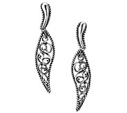 Carolyn Pollack Filigree Drop Earrings - J342855