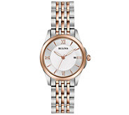 Bulova Ladies Classic Two-tone Bracelet Watch - J343955