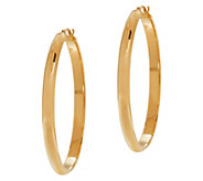 EternaGold Bold 1-1/2 Wedding Band Hoop Earrings, 14K Gold - J344655
