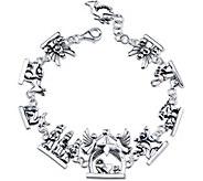 Extraordinary Life Sterling Silver Nativity Bracelet - J345355