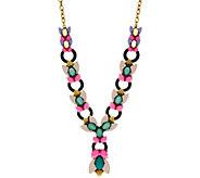 LOGO Links by Lori Goldstein Enamel Leaves Necklace - J346955