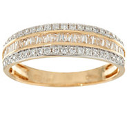 Baguette & Round Diamond Band Ring, 14K 1/2 cttw by Affinity - J347755