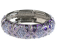 As Is Joan Rivers Crystal Couture Stretch Bracelet - J348155