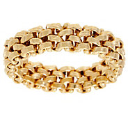 14K Gold Flexible Rolo Link Band Ring - J348855