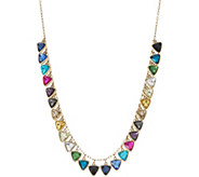 LOGO Links Triangle Stone Necklace - J350455