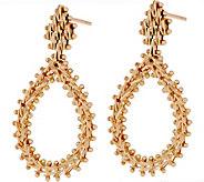 Imperial Gold Wheat Tear Drop Earrings, 14K Gold - J351555