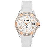 Bulova Womens Marine Star Diamond Accent Watch - J375155