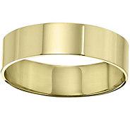 Womens 14K Yellow Gold 6mm Flat Comfort Fit Wedding Band - J375255