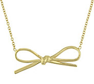 Sterling Bow Necklace by Silver Style - J375655