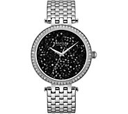 Caravelle New York Womens Silvertone Crystal Watch - J375955