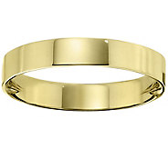 Mens 14K Yellow Gold 4mm Flat Wedding Band - J376055