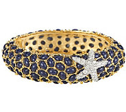 Kenneth Jay Lanes Neptune Cabochon Bangle Bracelet - J0856