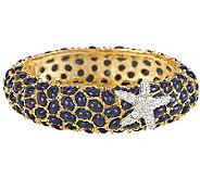 Kenneth Jay Lanes Neptune Cabochon Bangle Bracelet - J0856