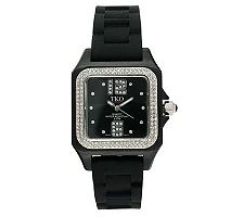 TKO Ladies Riviera Ice Polycarbonate and RubberStrap Watch