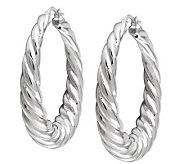 UltraFine Silver 1-1/2 Twisted Hoop Earrings - J110556
