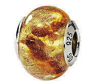 Prerogatives Sterling Gold & Red Italian MuranoGlass Bead - J111756