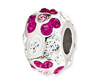 Prerogatives Sterling Clear with Fuchsia Crystal Flower Bead - J113256