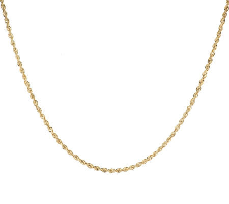 "20"" Shimmering Rope Chain 14K Gold, 2.7g"