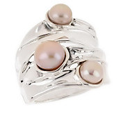 As Is Hagit Gorali Sterling Cultured Freshwater Pearl Ring - J144456