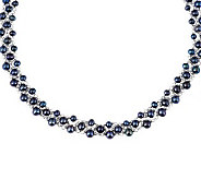 Honora Cultured Pearl 16 Sterling Woven Necklace - J264656