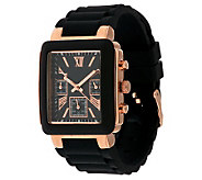 Gossip Multi-Function Rectangular Silicone Watch - J284956