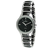 Peugeot Womens Swiss Ceramic Two-Tone Link Watch - J308656