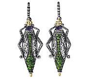 Barbara Bixby Sterling & 18K Pave Grasshopper Earrings - J313156