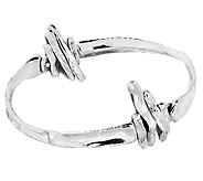 Hagit Sterling Textured and Polished Slip-On Bangle - J316856