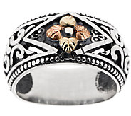 Black Hills Sterling Bold Textured Band Ring, 12K - J317156