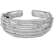 Judith Ripka Sterling Multi Row Cuff - J321456