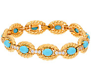 The Elizabeth Taylor Oval Simulated Turquoise Bracelet - J321756